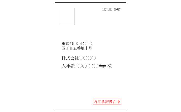 内定承諾書を郵送するときの封筒の書き方(サイズ・色につい ...